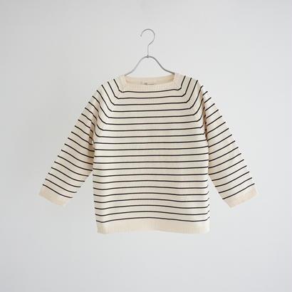 188012 コットン天竺ボーダーセーター