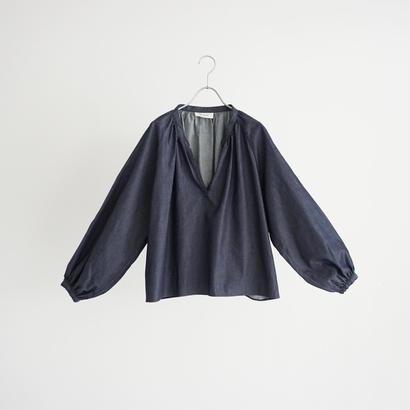 184514 デニムギャザーシャツ