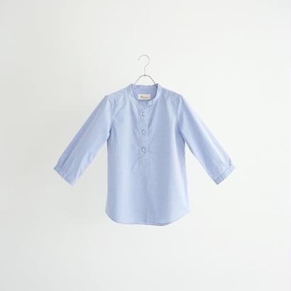 184312 オックスシャンブレーヘンリーネックシャツ