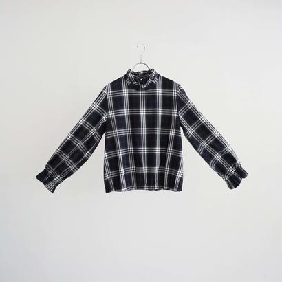 184803 タータンチェックフリルシャツ