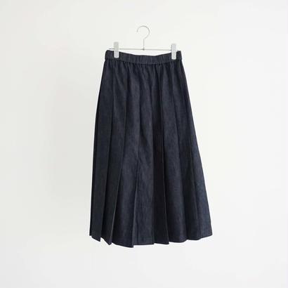 187531 デニムプリーツスカート