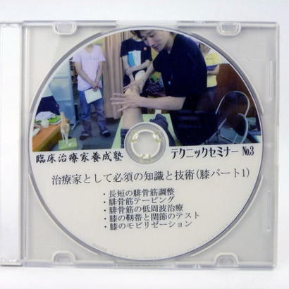 臨床治療家養成塾テクニックセミナー DVD No.3 膝パート1