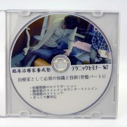 臨床治療家養成塾テクニックセミナー DVD No.7 骨盤パート1