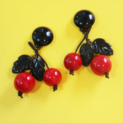 BAKELITE CHERRY EARRINGS