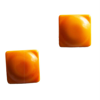 BAKELITE Yellow square earrings