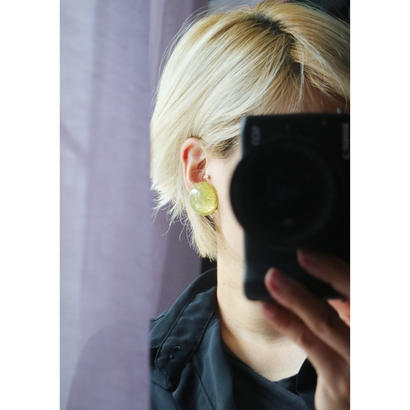 BAKELITE Glitter  Earrings GOLD