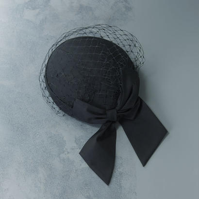 shuo15004 Sashiki × shuo Cocktail hat(Black)