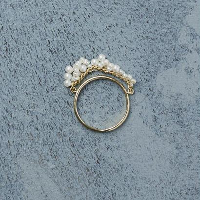 shuo 12004 Drop Pearl Ring