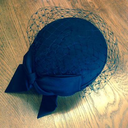 shuo15004 Sashiki × shuo Cocktail hat(Black)