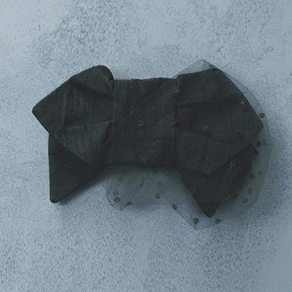 Ribbon Corsage (Black)