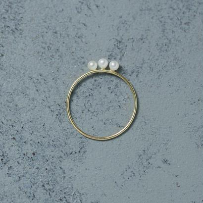 shuo15012 Drop pearl pinky ring