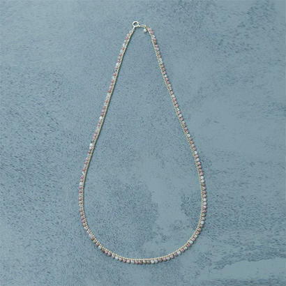 shuo11009  Pink Coral Necklace (Short )