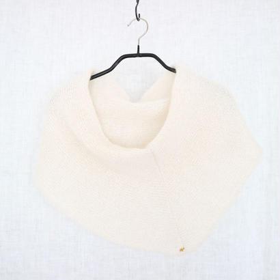 ◆即納◆Azimech[アジメク] シルクモヘア・スヌード・ケープ / ホワイト系1