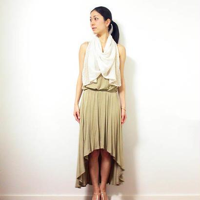 ◆即納◆Saiph[サイフ] 裾ラメ・エアリーストール / ビーチサンド・ベージュ