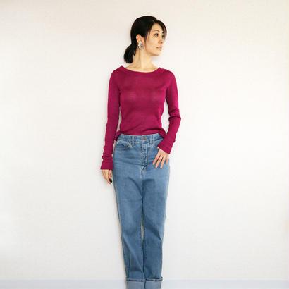 ◆Sサイズ即納◆Crux[クルックス] ラウンドネック・セーター / ベリー・ピンク