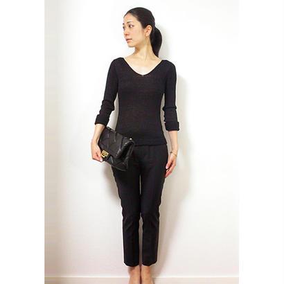 ◆Lサイズ即納◆Kruger[クリューガー] Vネック・セーター / ブラック