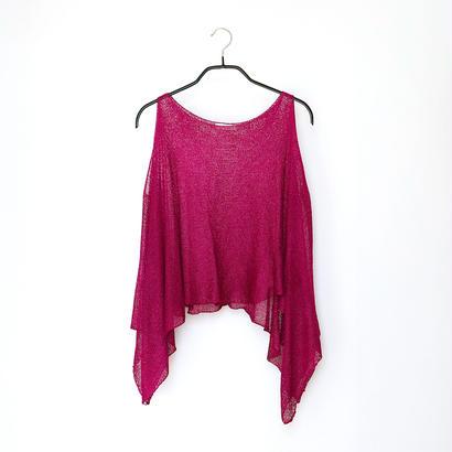 ◆即納◆Scutum[スクトゥム] ベアショルダー・ポンチョ短丈 / ベリー・ピンク