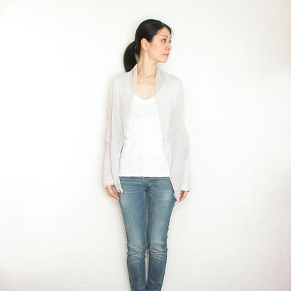 ◆即納◆Aquila[アクイラ] 部分ラメ・袖付きストール / アイシー・グレー