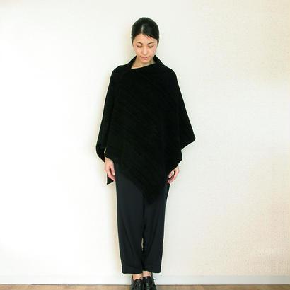 ◆即納◆Pavo[パボ] シルクモール・ストール・ポンチョ / ブラック