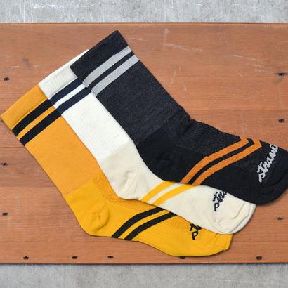 [Strawfoot] Dugout Socks / NATURAL & CHARCOAL