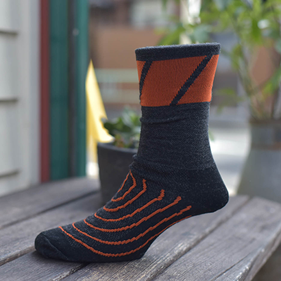 [Strawfoot] Speed Block Socks : Charcoal