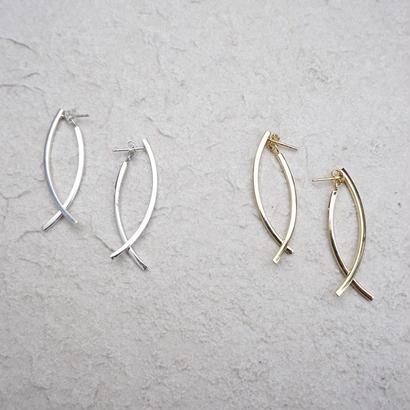 silver925 curve drop pierce