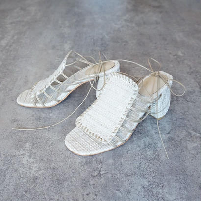 RACE-UP RAFFIA SANDAL