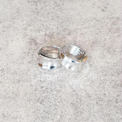 wide metal silver ring