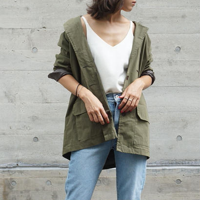 OVER FIT MILITARY JACKET