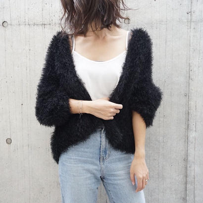 FEATHER TOUCH KNIT CARDIGAN