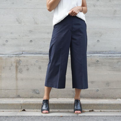 COTTON CHINO ANKLE PANTS