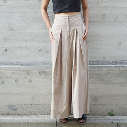 TACK CHINO WIDE PANTS