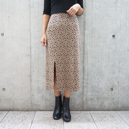 LEOPARD SLIT TIGHT SKIRT