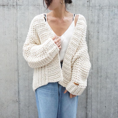 LOW GAUGE HANDMADE KNIT CARDIGAN