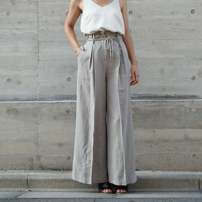 HIGHWAIST ROPE RINEN PANTS