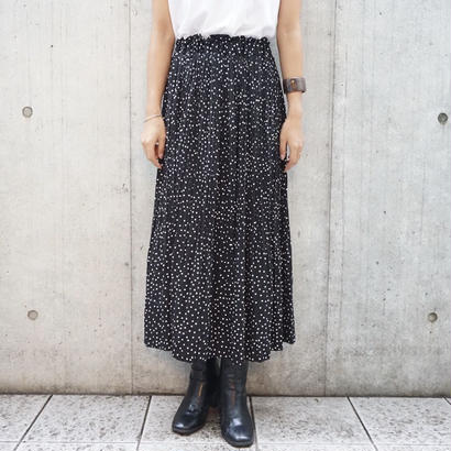 DOT PLEAT CHIFFON SKIRT