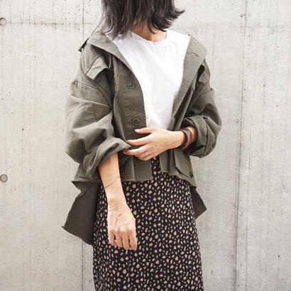 ASYMMETRY MILITARY JACKET