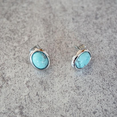 silver turquoise pierce