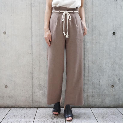 LINEN ROPE BELT PANTS