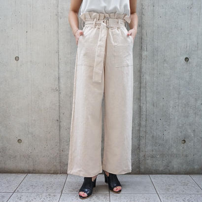 HIGHWAIST BELT LINEN PANTS