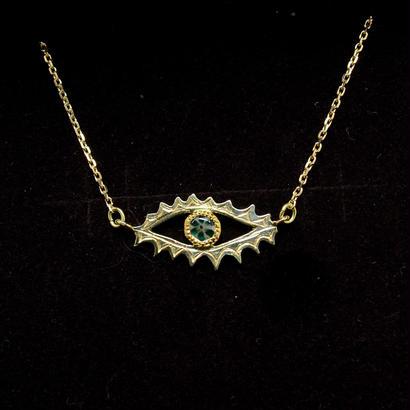 K18-K22 Trapiche Emerald Eye(ネックレス)