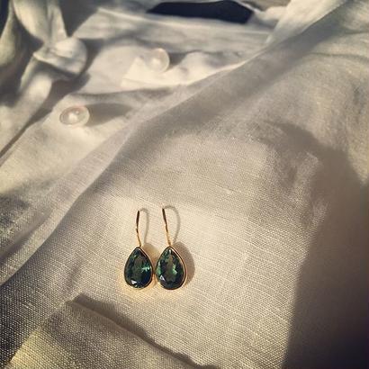 Green Quarts Earrings