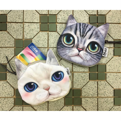 ☆Handmade☆【香港☆猫范】猫ちゃんのかわいい多目的ポーチ  /  2種類