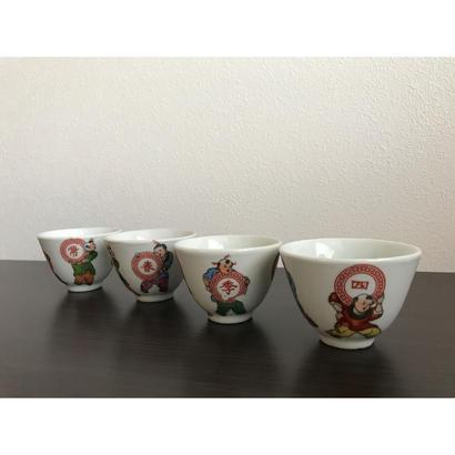 【香港☆四季常春】童子 茶杯  / 1960年代 Y-5907