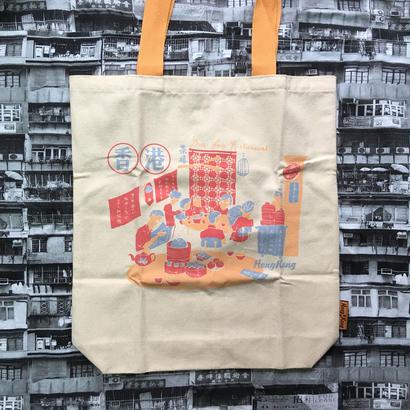<SALE>【香港☆DITTO帆布袋】A茶樓・B春秧街 / TOTE BAG