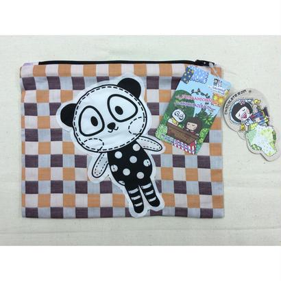 【香港☆Chocolate Rain】<Hand Made>Pandanya× Fatinaの大きめポーチ / 限定品です