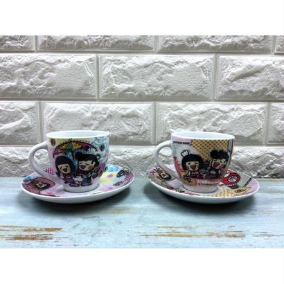 <4周年感謝商品>【香港☆Chocolate Rain】 Fatina&Chefoのカップ&ソーサー / EAT & PLAY 2種類