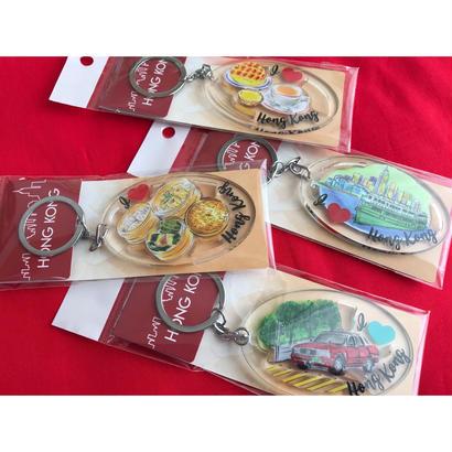 【香港☆鎖鑰扣】I ♡ 香港  KEYCHAIN  / 下午茶・天星小輪・點心・的士 4種類