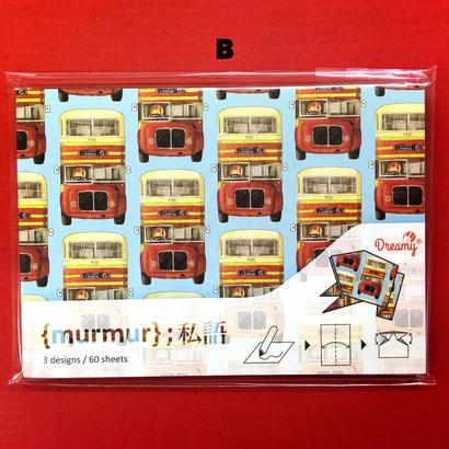 🉐SALE【Dreamy☆私語】香港OTEGAMI /(3種類) 香港人力車・巴士・菠蘿飽