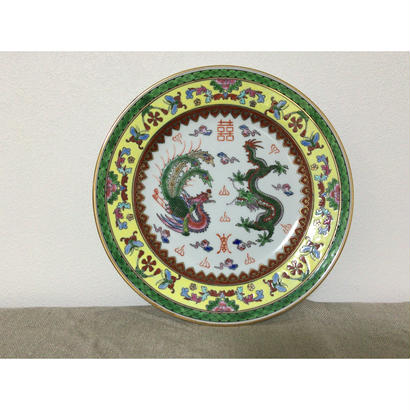 【香港☆中国景徳鎮】お勧め☆龍柄の大皿 / 飾っても素敵です G-5892